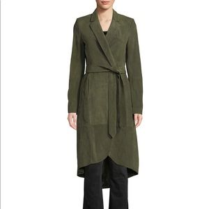 Alice and Olivia Suede Wrap Coat